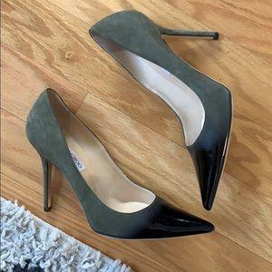 Green suede ombré jimmy choo heels